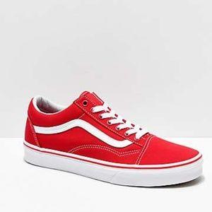 Red Classic Vans NEW